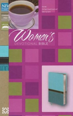 NIV Women's Devotional Bible--soft leather-look, turquoise/Caribbean blue  -