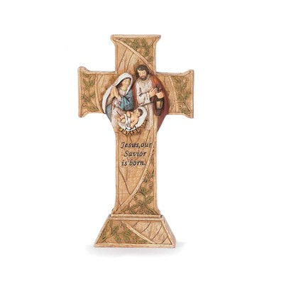 Nativity Cross, Jesus Our Savior is Born  -