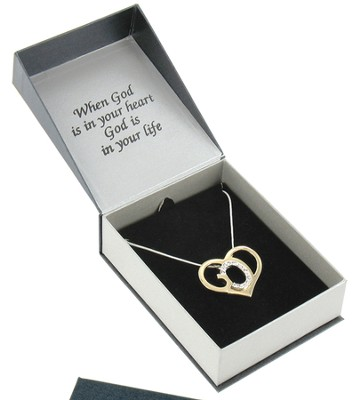 God's Heart Two-Tone Necklace   -