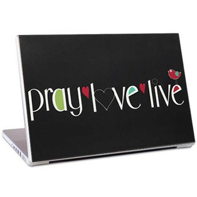 Pray, Love, Live Laptop Skin  -     By: Amylee Weeks