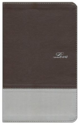 NIV Couples' Devotional Bible, Italian Duo-Tone, Chocolate/Silver  -