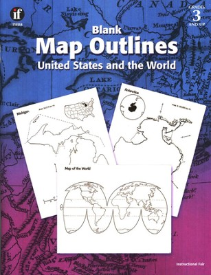 Blank Map Outlines: United States and World   -