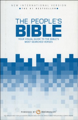 The NIV People's Bible: Your Visual Guide to the   Bible's Most-Searched Verses, Hardcover - Slightly Imperfect  -