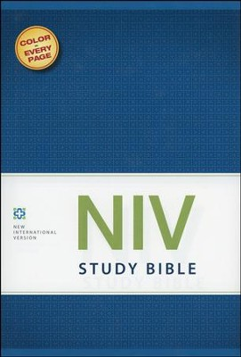 NIV Study Bible, Hardcover - Slightly Imperfect  -