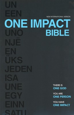 NIV One Impact Bible: One God. One Person. One Impact.  -