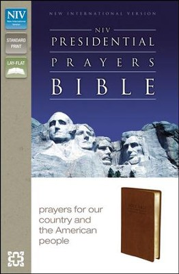NIV Presidential Prayers Bible, Imitation Leather, Brown  -     By: Zondervan
