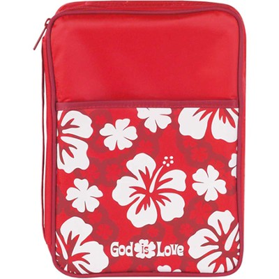 God Is Love Bible Cover, Red, Medium  -