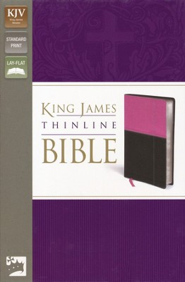 KJV, Thinline Bible, Italian Duo-Tone, Orchid/Chocolate  -