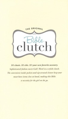 KJV Bible Clutch, Italian Duo-Tone, Silver Ice   -