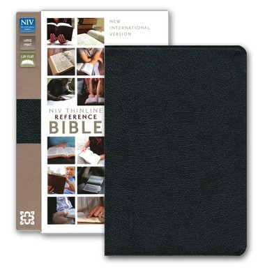 NIV Largeprint, Thinline, Reference Bible, Black (Black Letter)  -