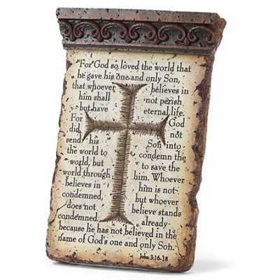 John 3:16-18 Tabletop Plaque  -