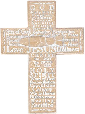 Words from Scripture Wall Cross  -