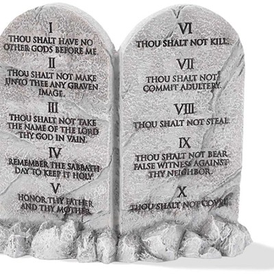 Ten Commandments Figurine  -