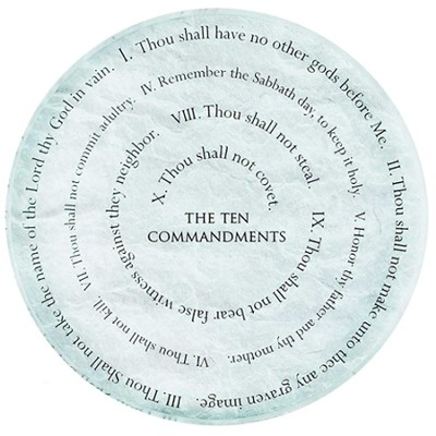 Ten Commandments Paperweight  -