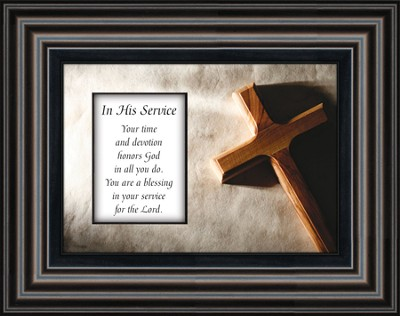 In His Service Framed Art  -