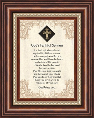 God's Faithful Servant, Framed Print  -