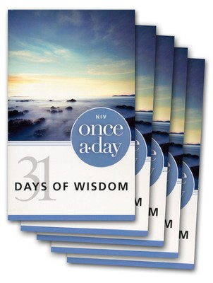NIV Once-A-Day 31 Days of Wisdom - 20 Pack  -