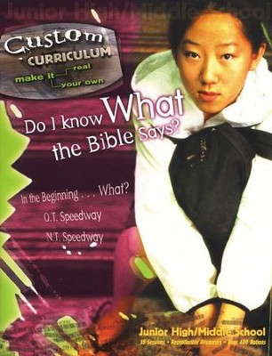 Do I Know What the Bible Says? Custom Curriculum  -