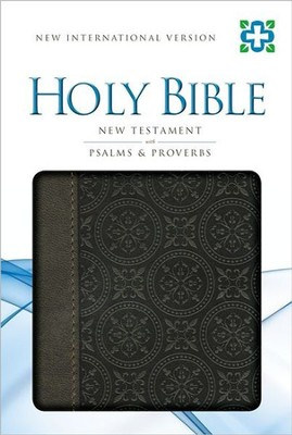 NIV New Testament with Psalms and Proverbs, Italian Duo-Tone, Chocolate  -