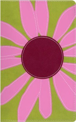 NIV Thinline Bloom Collection Bible, Imitation Leather, Pink Daisy  -