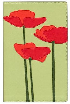 NIV Thinline Bloom Collection Bible, Compact, Italian Duo-Tone, Poppies  -