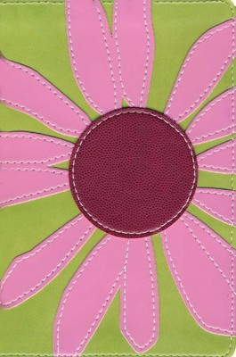 NIV Thinline Bloom Collection Bible, Compact, Imitation Leather, Pink Daisy  -