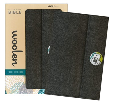 NIV Thinline Woolen Collection Bible, Hardcover, Woolen Gray  -
