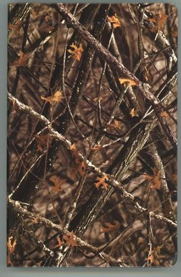 NIV Outdoorsman Bible, Imitation Leather, Camouflage  -     By: Jason Cruise