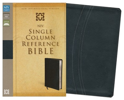 NIV Single-Column Reference Bible, Italian Duo-Tone, Black/Black  -