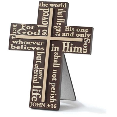 John 3:16 Tabletop Cross  -