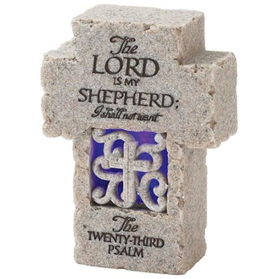 Psalm 23 Tabletop Cross  -