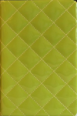 NIV Thinline Quilted Collection Bible, Compact, Italian Duo-Tone, Kiwi    -     By: Zondervan