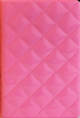 NIV Thinline Quilted Collection Bible, Compact, Italian Duo-Tone, Strawberry Cream  -     By: Zondervan