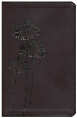 NIV Flora and Fauna Collection Bible, Italian Duo-Tone, Chocolate/Copper Flowers  -