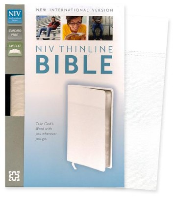 NIV Thinline Bible, Imitation Leather, White   -