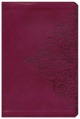 NIV Thinline Bible, Large Print, Italian Duo-Tone, Cranberry  -     By: Zondervan Bibles