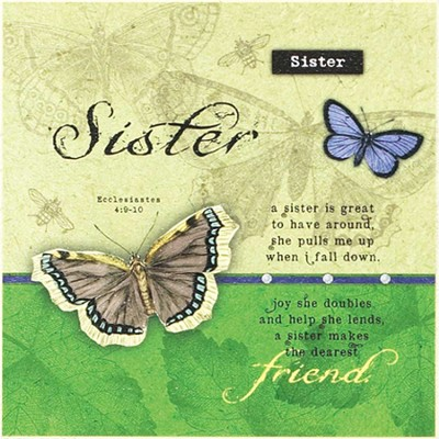 Sister, Is Great to Have Around Plaque  -     By: Tammy Apple