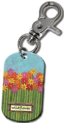 Wildflower Clip-On Key Ring  -