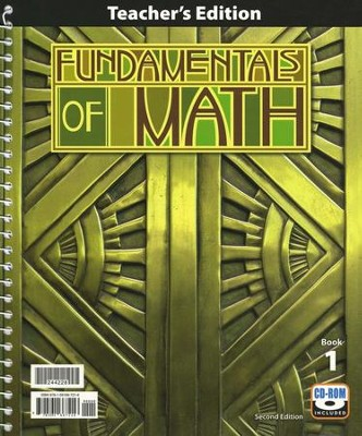 BJU Fundamentals of Math Grade 7 Teacher's Edition with CD-ROM Second Edition  -