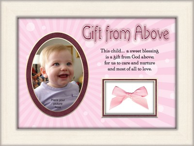 Gift From Above Photo Frame, Girl  -