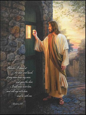 Let Him In Mounted Print  -     By: Greg Olsen