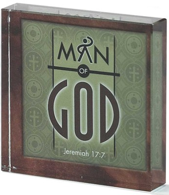 Man of God Glass Block  -