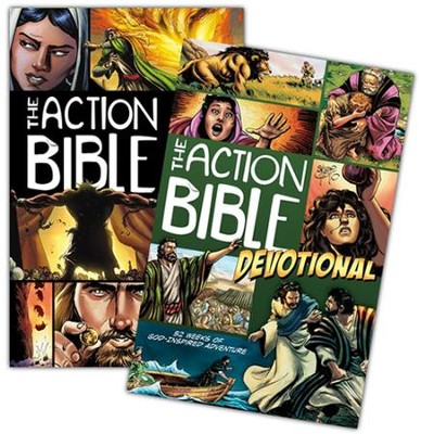 The Action Bible and The Action Bible Devotional, 2 Volumes  -     By: Sergio Cariello, illus.     Illustrated By: Sergio Cariello