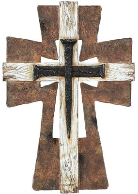 Layered Nail Wall Cross  -