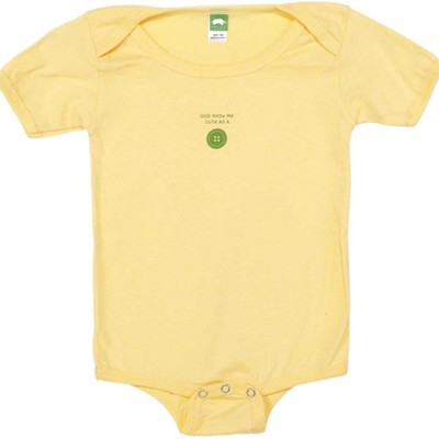 God Made Me Cute as a Button Romper, Yellow, 12 Months  -