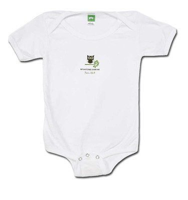 He Watches Over Me Romper, White, 12 Months  -