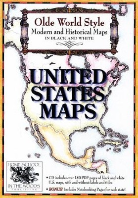 Olde World Style United States Maps on CD-ROM   -