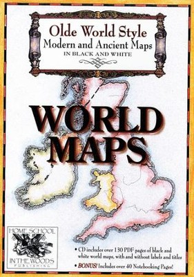 Olde World Style World Maps on CD-ROM   -