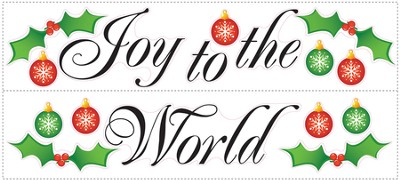 Joy to the World Vinyl Wall Stickers  -