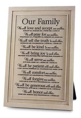 Our Family Plaque  -